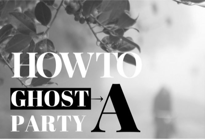 #Ghosting a party politely. #introverts